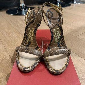 Salvatore Ferragamo Python Snake Stiletto Heels